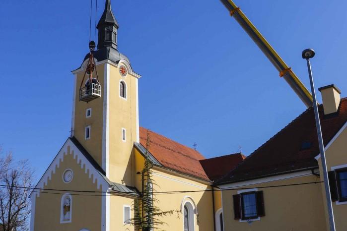 U tijeku popravak pokrova tornja i krova župne crkve u Ivancu; u sanaciji kupole pomoći će Grad Ivanec