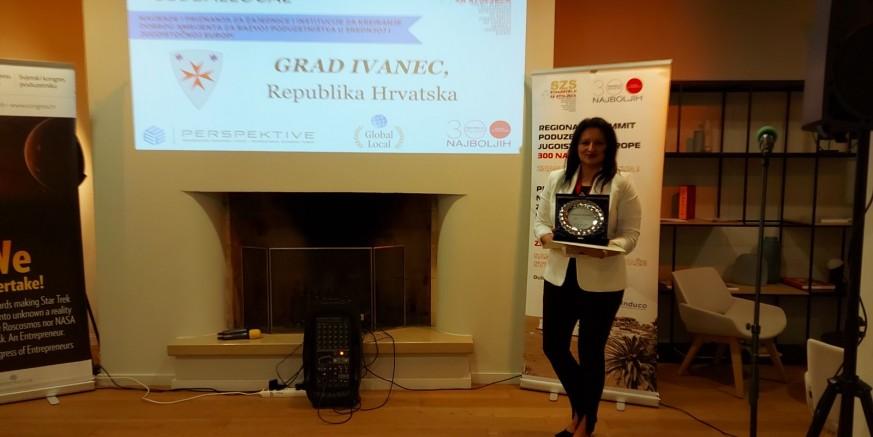 DUBROVNIK Gradu Ivancu međunarodno priznanje za doprinos razvoju poduzetništva!